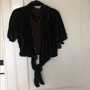 Max Azria Collection Velvet Wrap Top